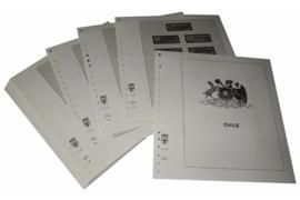Lindner Inhouden / T-Voordruk albumbladen met folie voorbladen met stroken (Inhoud) Chili 1992-1998 (44 bladen) (Lindner 505-92)