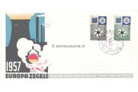 Nederland NVPH E32 Onbeschreven FOTOLEVERING 1e Dag-enveloppe Europa 1957