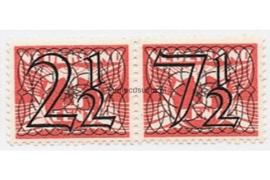 Nederland NVPH 356b (2 1/2 + 7 1/2 cent) Postfris Guilloche (traliezegels) in zwart op rood op 3 cent type vliegende duif 1926, 1940