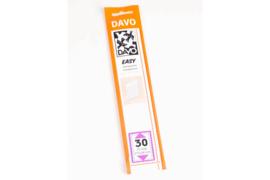 DAVO Easy stroken transparant T30 (215 x 34) 25 stuks