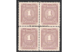 NVPH P33 Postfris (1 cent) (Blokje van vier) Cijfer 1945