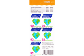 Nederland NVPH V2561 Postfris Velletje 5 voor buiten Europa (Hart/Globe) 2008