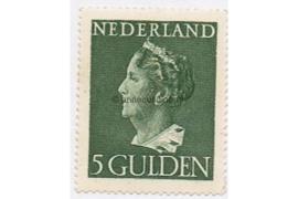 Nederland NVPH 348 Postfris (5 Gulden) Koningin Wilhelmina (Konijnenburg) 1940-1947