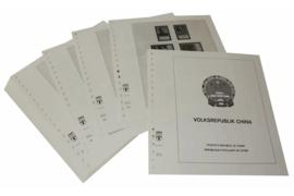 Lindner Inhouden / T-Voordruk albumbladen met folie voorbladen met stroken (Inhoud) China Volksrepubliek 1977-1980 (44 bladen) (Lindner 159-77)