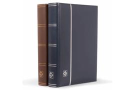 Leuchtturm (Lighthouse) Echt Leder Insteekboek Blauwe kaft/Zilveren opdruk (Leuchtturm/Lighthouse 356 722)