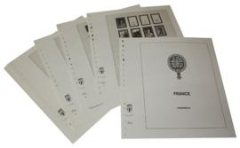 Lindner Inhouden / T-Voordruk albumbladen met folie voorbladen met stroken (Inhoud) Frankrijk 1940-1944 (17 bladen) (Lindner 131-40)