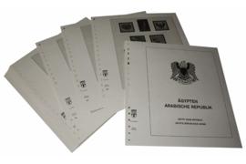 Lindner Inhouden / T-Voordruk albumbladen met folie voorbladen met stroken (Inhoud) Egypte 1992-2002 (47 bladen) (Lindner 153A-92)