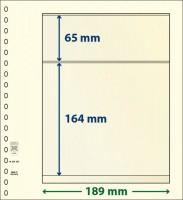 Lindner T-Blanco blad met 2 stroken (Lindner 802203) (per stuk)