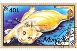 Mongolië Michel 2330 Gestempeld Katten 1991