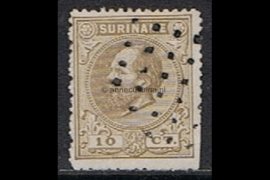 NVPH 6A Gestempeld FOTOLEVERING (10 cent) Koning Willem III Lijntanding 14 kl.g. 1870-1872