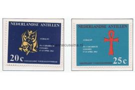 Nederlandse Antillen NVPH 334-335 Postfris Geestelijke Volksgezondheid 1963