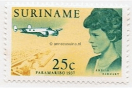 NVPH 478 Postfris (25 cent) Amelia Earhart 1967