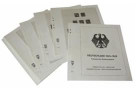 Lindner Inhouden / T-Voordruk albumbladen met folie voorbladen met stroken (Inhoud) Duitsland 1945-1949; Franse bezettingszone 1945-1949 (18 bladen) (Lindner 118C)