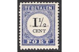 NVPH P15b Type III Ongebruikt (1 1/2 cent) Cijfer en waarde zwart 1894-1895