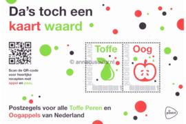 Nederland NVPH ToffePerenOogappels Postfris Geschenk velletjes (Persoonlijke Postzegels) Velletje Da's toch een kaart waard Toffe Peren & Oogappels 2015