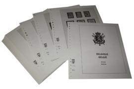 Lindner Inhouden / T-Voordruk albumbladen met folie voorbladen met stroken (Inhoud) België 1998-2003 (48 bladen) (Lindner 127-98)