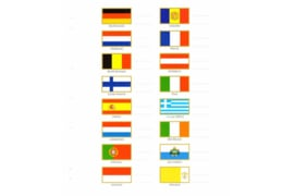 LAATSTE EXEMPLAREN! Leuchtturm Vlaggenset kaartjes voor Muntbladen/etuis Numis Euro  (Leuchtturm/Lighthouse 330344)