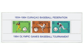 Nederlandse Antillen NVPH 775 Blok, Postfris Sport, baseball 1984
