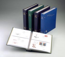 DAVO Standaard FDC album Neutraal (Klein) met inhoud (Donkerblauwe Kaft)