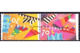 Nederland NVPH 1546/1547a (Paar/Samenhangend) Postfris Wenszegels 1993