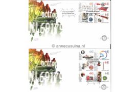 Nederland NVPH E601 Onbeschreven Rijksoctrooiwet op 2 enveloppen 2010