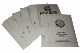 Lindner Inhouden / T-Voordruk albumbladen met folie voorbladen met stroken (Inhoud) Duitse Democratische Republiek 1985-1990 (52 bladen) (Lindner 121-85)