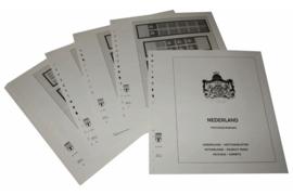 Lindner Inhouden / T-Voordruk albumbladen met folie voorbladen met stroken (Inhoud) Nederland Postzegelboekjes 1964-1984 (18 bladen) (Lindner 190H)