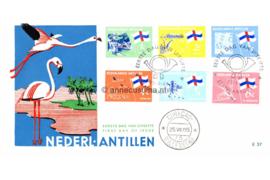 Nederlandse Antillen NVPH E37 (E37c; Flamingo's) Eilanden, standaardserie 1965