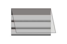 Mandor Insteekkaarten A6 158 x 110 mm zwart (3 stroken) per stuk