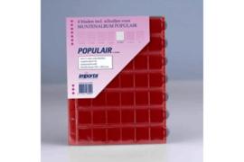 Importa Populair SETJE VAN: 4 x 42 Vaks Muntbladen met schuifjes & 4 Rode Schutbladen (Importa 0842r)