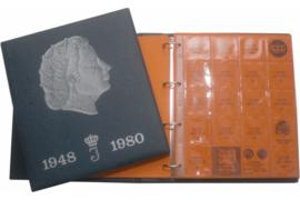 Hartberger Blauw Luxe Voordrukalbum Juliana 1948-1980