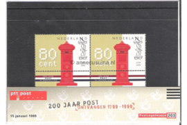 NVPH M203 (PZM203) Postfris 200 Jaar Nationaal Postbedrijf 1999