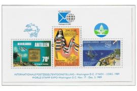 Nederlandse Antillen NVPH 932 Postfris Blok Internationale postzegeltentoonstelling 1989