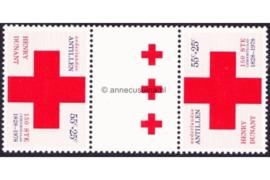 Nederlandse Antillen NVPH 592a Postfris FOTOLEVERING Keerdruk MET 3 GROTE KRUIZEN Rode Kruis 1978