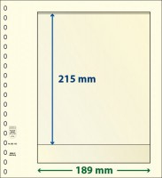 Lindner T-Blanco blad met 1 strook (Lindner 802102) (per stuk)