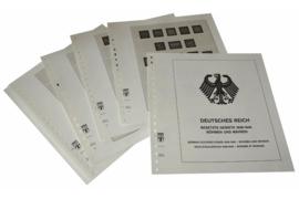 Lindner Inhouden / T-Voordruk albumbladen met folie voorbladen met stroken (Inhoud) Duitse Rijk Bezette Gebieden; Bohemen en Moravië 1933-1945 (10 bladen) (Lindner 117A)