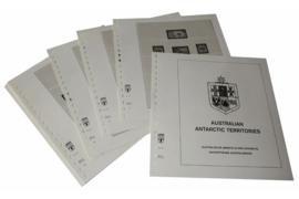 Lindner Inhouden / T-Voordruk albumbladen met folie voorbladen met stroken (Inhoud) Australisch Antarctische Gebieden 1957-2016 (32 bladen) (Lindner 471)