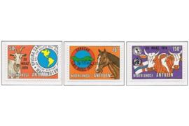 Nederlandse Antillen NVPH 621-623 Postfris Zegels uit blok P.A.H.O. 1979