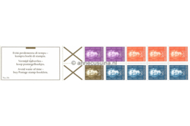 Nederlandse Antillen NVPH PB 3A (links) Postfris Postzegel-/Automatenboekje Type Hartz, 4 x no. 606 + 3 x no. 607 + 2 x no. 608 + 1 x no. 609 (bruin kruis) 1979