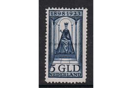 Nederland NVPH 131 Postfris FOTOLEVERING (5 gulden) 25 jarig regeringsjubileum koningin Wilhelmina 1923