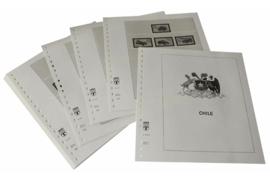 Lindner Inhouden / T-Voordruk albumbladen met folie voorbladen met stroken (Inhoud) Chili 1999-2001 (19 bladen) (Lindner 505-99)