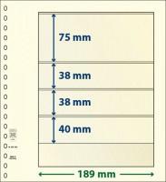 Lindner T-Blanco blad met 4 stroken (Lindner 802403) (per stuk)
