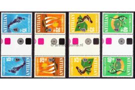 Nederlandse Antillen NVPH 576a-579a Postfris FOTOLEVERING Keerdrukken MET ROZE ZWARTE KLEURSYMBOLEN Sport 1978