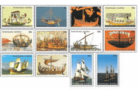 Nederlandse Antillen NVPH 1446-1457 Postfris (Als losse zegels) Zeilschepen 2003