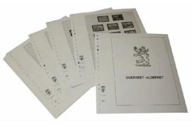 Lindner Inhouden / T-Voordruk albumbladen met folie voorbladen met stroken (Inhoud) Alderney 1983-2011 (48 bladen) (Lindner 145GA)