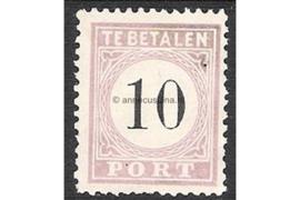 NVPH P3 Type III Postfris FOTOLEVERING (10 cent) Cijfer in zwart 1886-1888