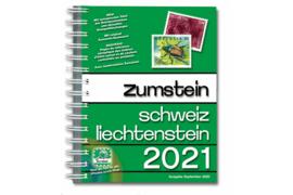 Zumstein Schweiz/Liechtenstein Briefmarken-Katalog 2021 met Spiraalbinding