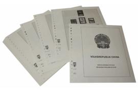 Lindner Inhouden / T-Voordruk albumbladen met folie voorbladen met stroken (Inhoud) China Volksrepubliek 1997-2000 (41 bladen) (Lindner 159-97)