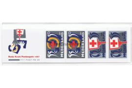 Nederland NVPH PB36 (NVPH 1384) Postfris Postzegelboekje Rode Kruis 1987