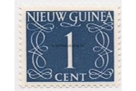 Nederlands Nieuw Guinea NVPH 1 Postfris (1 cent) Cijfer van Krimpen 1950